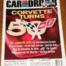 Car & Driver magazine July 2002 Corvette turns 50, BMW M3 SMG, VW Passat W8