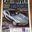 Car & Driver magazine February 2005 Z06 Chevrolet Corvette, Chrysler Firepower, Viper coupe