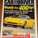 Car & Driver magazine September 2004 400HP C6 Corvette, Chevy Equinox, Volvo V50 T5