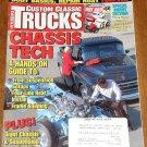 Custom Classic Trucks magazine February 1998 Chassis tech, rust repair, frame building, 4 links