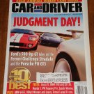 Car & Driver magazine January 2004 Ford GT vs Ferrari Challenge Stradale & Porsche 911 GT3