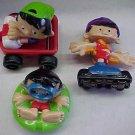 3 Bobby's World figures, dated 1994, McDonalds(?)