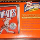 Mark McGwire Wheaties mini cereal box, 1999, MIP, 24k signature, Ltd Ed collectible