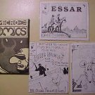 3 different 1980's Micro-Comics by Paul Curtis - Radical Rat, Killer Bunnies, Essar