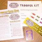 Hyborian Gates Trooper Kit game system RPG, card, sticker, badge, more