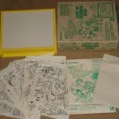 Lakeside Marvel comics Hulk & Spider-Man Light-Up Drawing Desk, 1979 Thor Captain America