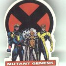 Mutant Genesis promo pin, 1991, X-Men comic book mini series, MINT