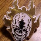 Ghost Rider flaming head promo tie-tack style pin, 1993, plastic, MINT, Marvel comics