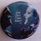 1989 Batman vs Joker metal button pin, NM, Jack Nicholson, Michael Keaton