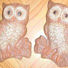 """2 Owl wall hangings, handpainted, 7.5"""", excellent detail"""
