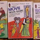 3 Trivia question card games - Sports, Movies, Television, 1984, 100's of questions!