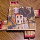 French made tabletop match holder - mini chest of 4 drawers