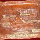 """Washington DC molded embossed tray - Silberne, 12"""" x 8"""", landmarks molded into the tray, NM"""