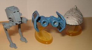 Star Wars Micro Machines - 3 vehicles, super detailed, loose