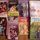 9 assorted old romance novels books HC & SC hardcover & paperbacks,