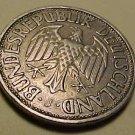 1950 German 1 Deutsche Mark coin