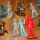 Assortment of toy soldiers and airman figures - various years and brands