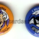 Batmite & Mr. Mxyzptlk comic book promo pin buttons, 2000, mint, DC comics, Batman & Robin, Superman