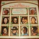 Wonderful World of Christmas LP vinyl record album 33rpm, 1976 Glen Campbell, Pat Boone, more