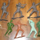 Assortment of Marx large German & US soldiers, vikings, cowboys, indians, frontiersman, more