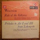 "Berlin Philharmonic: Wagner Ride of the Valkryies 10"" LP record album, 1952, G cond."