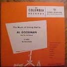 "Al Goodman Orchestra: Music of Irving Berlin 10"" LP record album, 1950's VG"