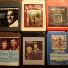 Country Music 8-track tapes assortment #3, 6 tapes -Johnny Cash, Marty Robbins, Webb Pierce, MORE