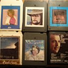 Country Music 8-track tapes assortment #8, 6 tapes - Johnny Paycheck Glen Campbell Barbara Mandrell