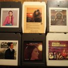 Country Music 8-track tapes assortment #9, 6 tapes - Crystal Gayle, Ray Price, Loretta Lynn, MORE!