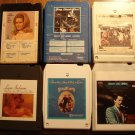 Country Music 8-track tapes assortment #10, 6 tapes -Statler Brothers Lynn Anderson Roy Clark MORE