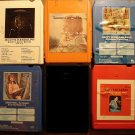 Country Music 8-track tapes assortment #12, 5 tapes Jerry Lee Lewis Boots Randolph Donna Fargo MORE