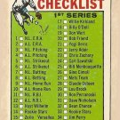 1964 Topps baseball card #76 (C) 1st Series Checklist - Unmarked VG/EX small printing spots on front