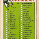 1964 Topps baseball card #76 (D) 1st Series Checklist - Unmarked EX - really nice shape