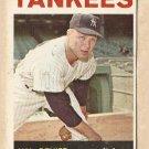 1964 Topps baseball card #36 (B) Hal Reniff VG New York Yankees