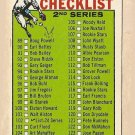 1964 Topps baseball card #102 (B) 2nd Series Checklist - Unmarked VG - slight rubber band marks