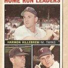 1964 Topps baseball card #10 (B) Home Run Leaders Harmon Killebrew, Dick Stuart, Bob Allison VG-
