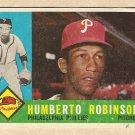 1960 Topps baseball card #416 Humberto Robinson Good, Philadelphia Phillies