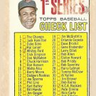 1967 Topps baseball card #62 1st Series checklist Good (scuffed and marked)