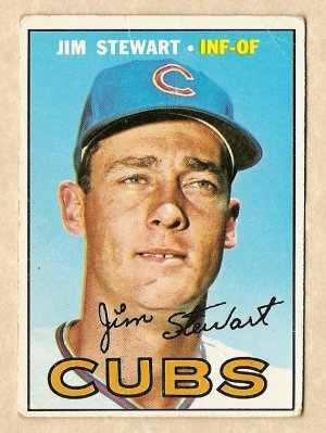 1967 Topps baseball card #124 Jim Stewart - Good, Chicago Cubs