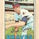 1967 Topps baseball card #138 Dick Kelley VG Atlanta Braves