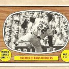 1967 Topps baseball card #152 World series Game #2 Jim Palmer VG