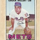 1967 Topps baseball card #198 Chuck Hiller EX/NM New York Mets