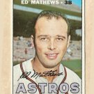 1967 Topps baseball card #166 Ed Mathews EX Houston Astros