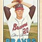 1967 Topps baseball card #219 Clay Carroll VG- Atlanta Braves