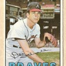 1967 Topps baseball card #267 Don Schwall VG Atlanta Braves