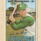1967 Topps baseball card #323 Mike Hershberger EX Kansas City Athletics