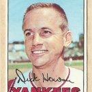 1967 Topps baseball card #411 (B) Dick Howser EX New York Yankees