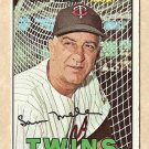 1967 Topps baseball card #418 Sam Mele VG Minnesota Twins