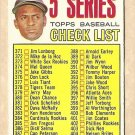 1967 Topps baseball card #361 (C) 5th Series Checklist (Roberto Clemente) Unmarked - EX