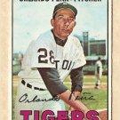 1967 Topps baseball card #449 Orlando Pena VG Detroit Tigers